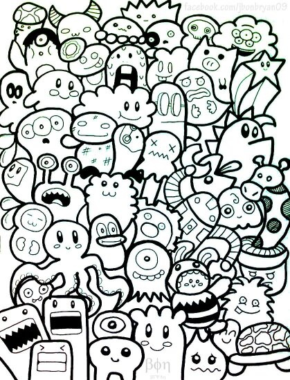 What are some examples of doodle art? I've been wanting to learn