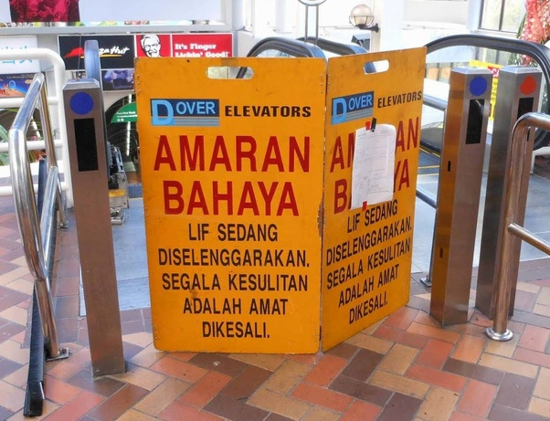 What are the funniest differences between bahasa indonesia and another signage that burst me into laughter is this stopboris Gallery