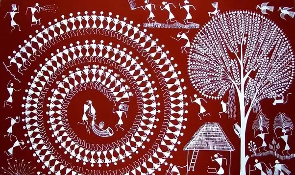 What is the basis for the warli artform quora some of the tribals are the warlivarlis malkhar koli kathodi kokana dhodi tribes found on the northern outskirts of mumbai living in mountainous as altavistaventures Image collections