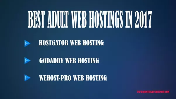 Or You can click on the footnote to know more about adult web hosting and best  hosting providers. This is the updated list of 2017.[1]