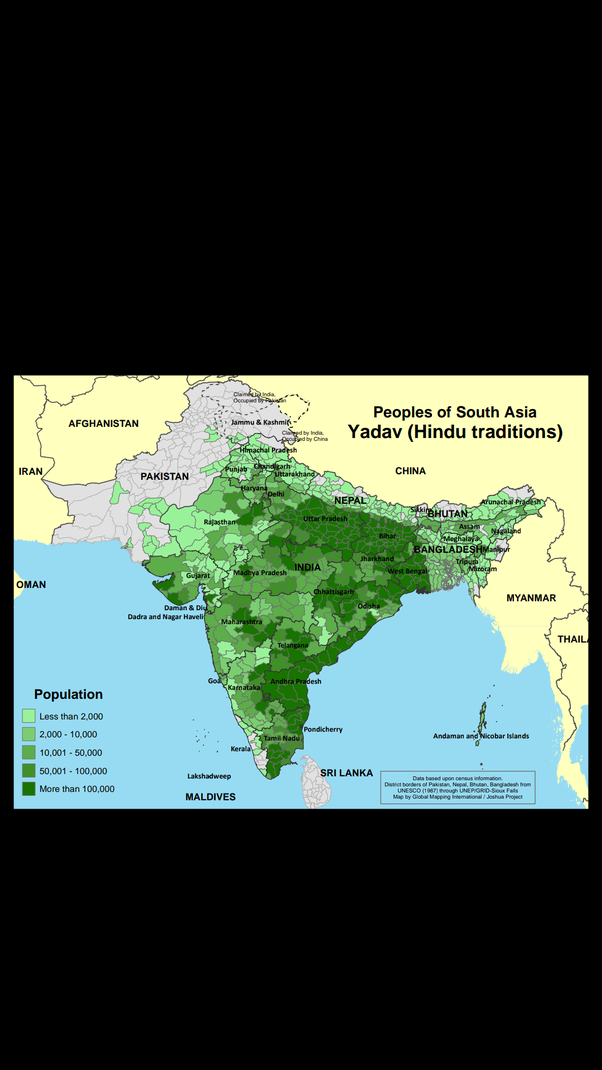 What is the population of Yadav in India? - Quora