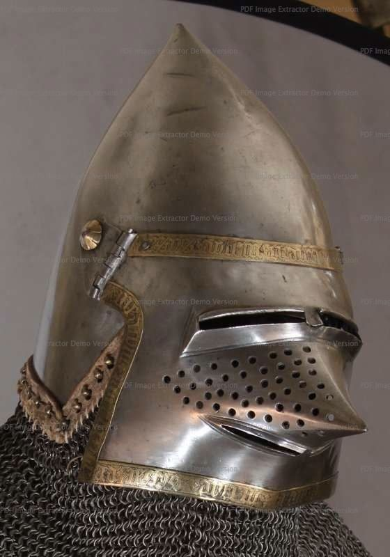 What medieval closed helmet designs provide the most