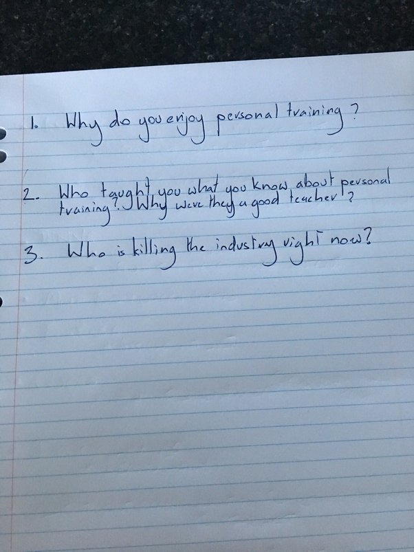 I Write These Questions Down Before Every Interview Alongside Their C.V.
