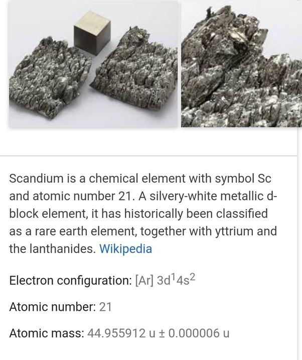 Is Scandium Metal Or Non Metal Quora