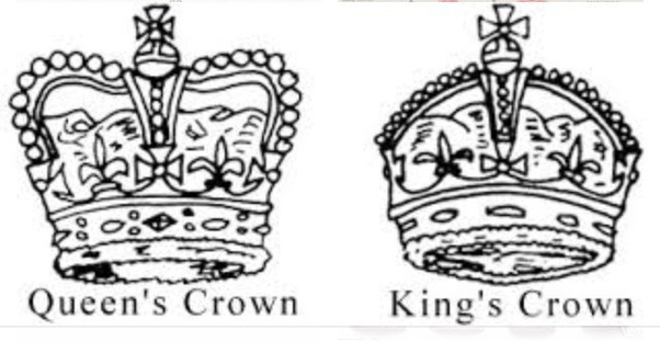 What Is The Difference Between A King S Crown And A Queen S Crown Quora