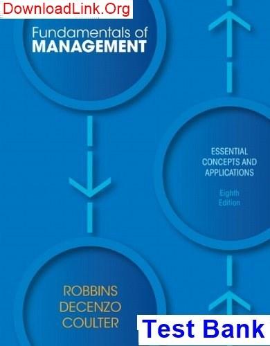 Fundamentals Of Management Robbins Pdf