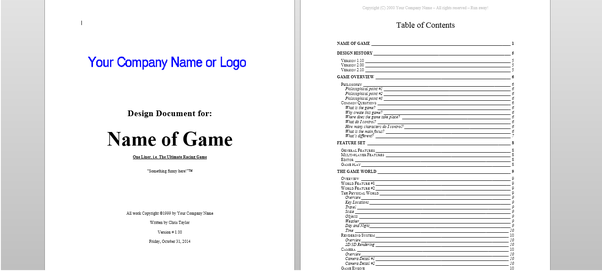 How Long Would It Take To Learn The Needed Skills Of Game Design - Gdd game design document example