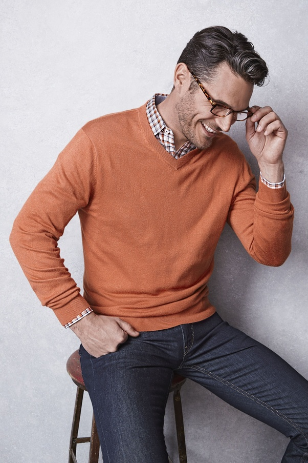 Should Shirt Collars Be Tucked Into A Sweater Or Sticking Out Quora