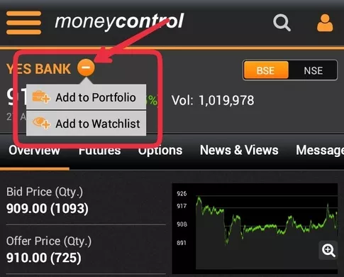 How to start investing in the stock market as a fresher with 1k inr above is an example is yes bank tap add to portfolio fandeluxe Image collections