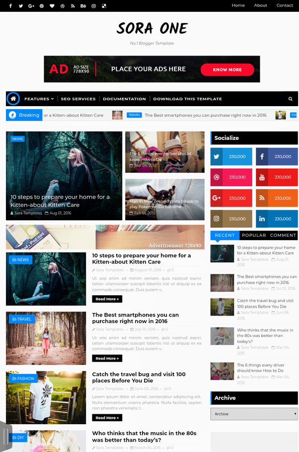 What are the best optimized and responsive blogger templates for the another responsive blogger template is sora one sora template is the famous creator many themes of sora template help blogger to grow their blog maxwellsz