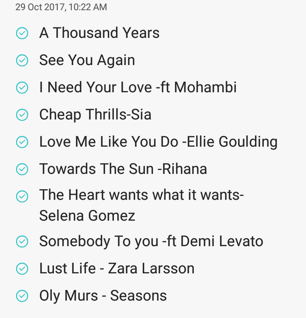 what are your top 10 english songs quora