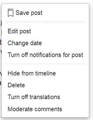 How to hide post date on facebook