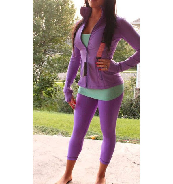 Here S Another Purple On Outfit But Can You See How Well A Green Shirt Contrasts With The In This These Colors Go Very Together