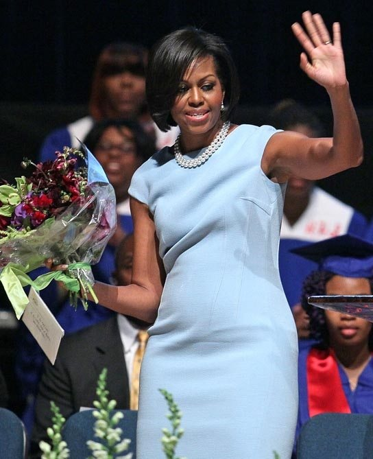 Is there an image of Michelle Obama pregnant? - Quora
