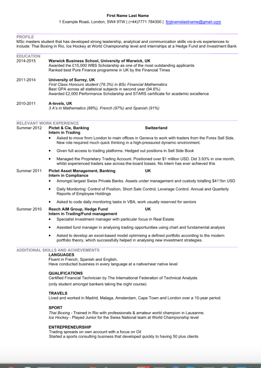 What Does The Resume Of Someone Who Has Done Two Or More