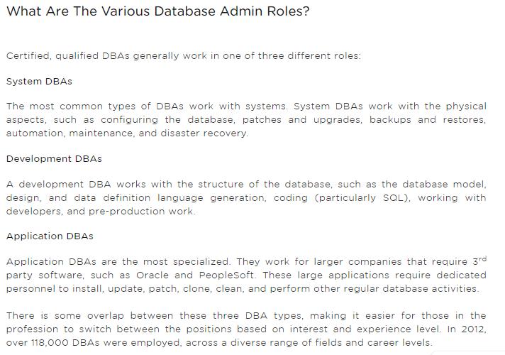 Oracle DBA has good career growth? - Quora