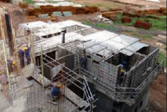 in load bearing structures the following image gives a clear and simple idea on why the walls are built first and then the slabs are casted - House Built On Concrete Slab