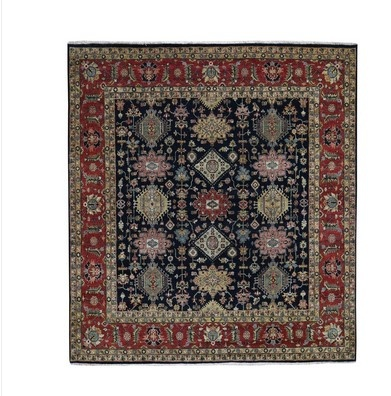 Hand Tufted Rug And A Woven