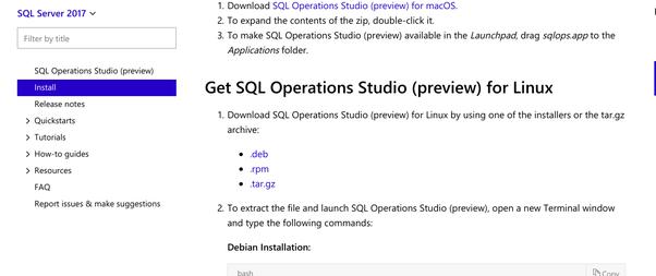Can I install Microsoft SQL management studio in Ubuntu? If