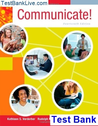 Communicate 14th edition verderber and sellnow test bank shop.