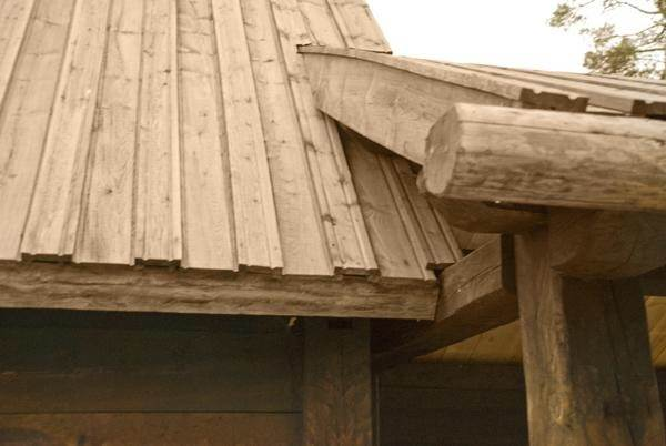 Wooden Roof Planks Part Of Wooden Roof Brick Wall Planks And