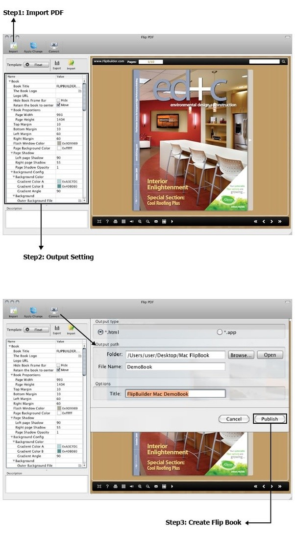 How to create a flip page catalogue from PDF files for my document ...