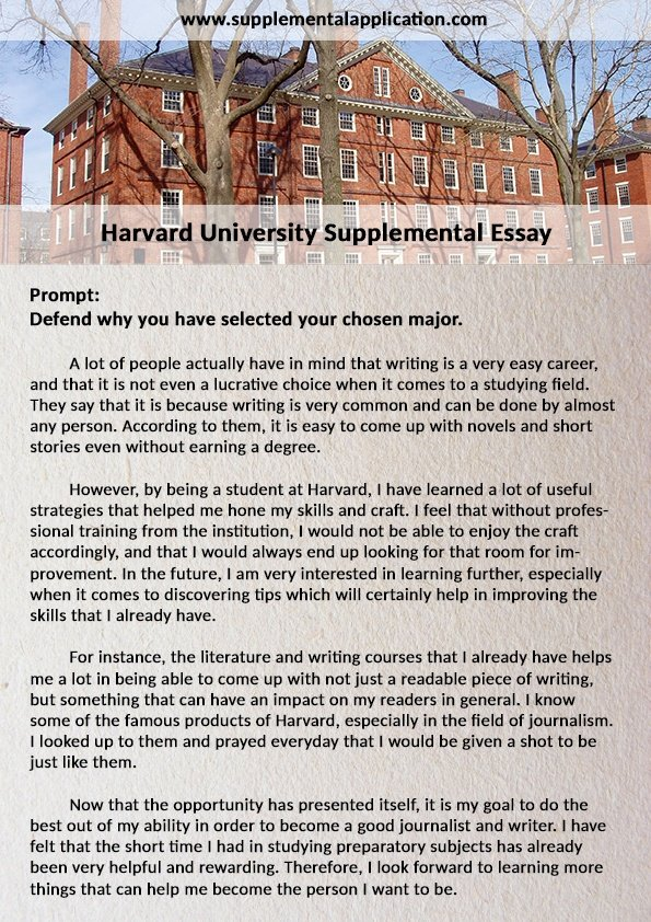 Harvard admission essay
