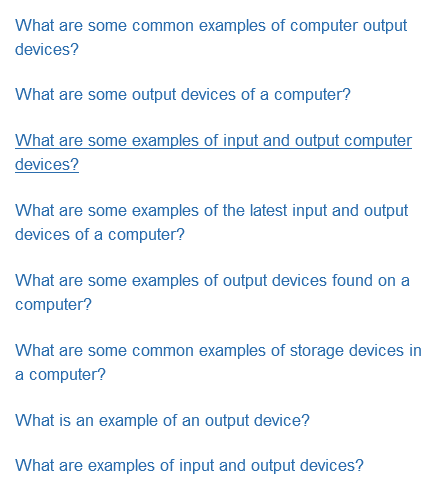 What Are Some Common Examples Of Output Devices For A Computer Quora