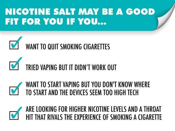 What is the difference in nicotine salts and a normal vape