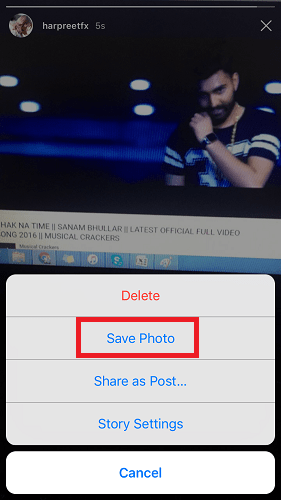 save video from instagram