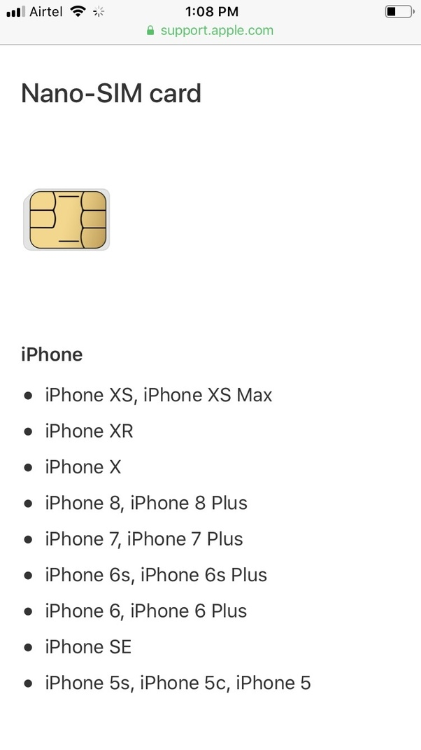 Will an iPhone 6 SIM card work on an iPhone 8? - Quora