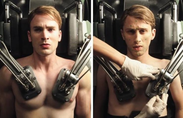 Did Chris Evans (Captain America) go through a body transformation for the  movie or was it CGI or a double? - Quora