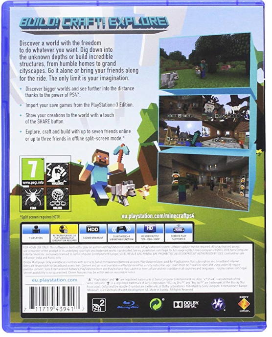 Do you need PlayStation Plus to play Minecraft with your