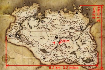 Skyrim Map Size How large is Skyrim's overworld?   Quora