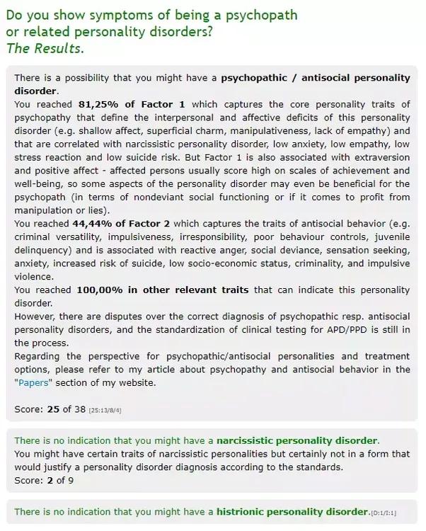Do i have psychopathic tendencies quiz