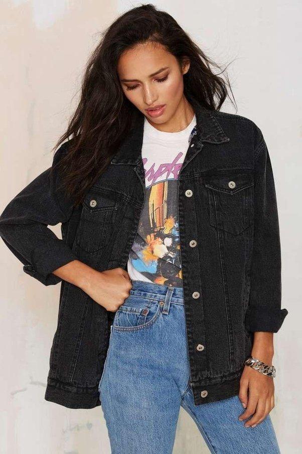 Can i wear denim jacket with black jeans