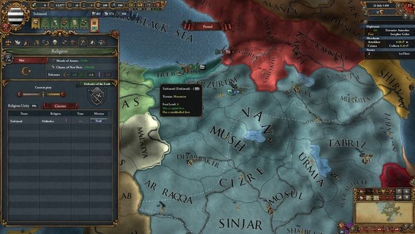 In Europa Universalis 4, how do you survive as the Empire of ... on