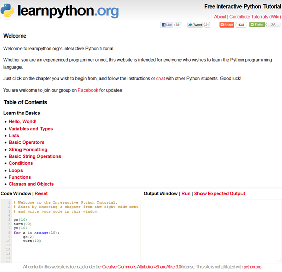 Like Trypython Learn Python Has A Built In Interpreter Right On The Website As Well Tutorial Series To Go Alongside Of It So What S Difference