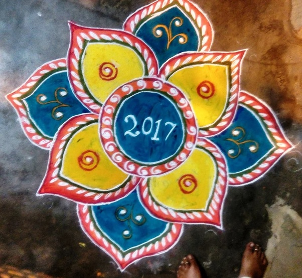 Happy New Year Best Rangoli 58