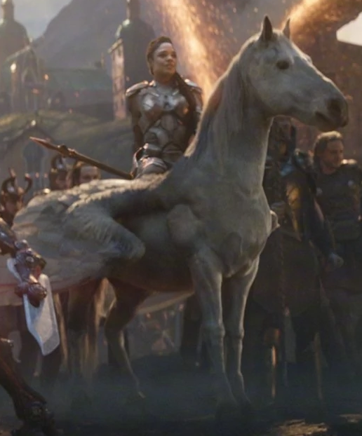Who Is Riding A Pegasus In Avengers: Endgame?