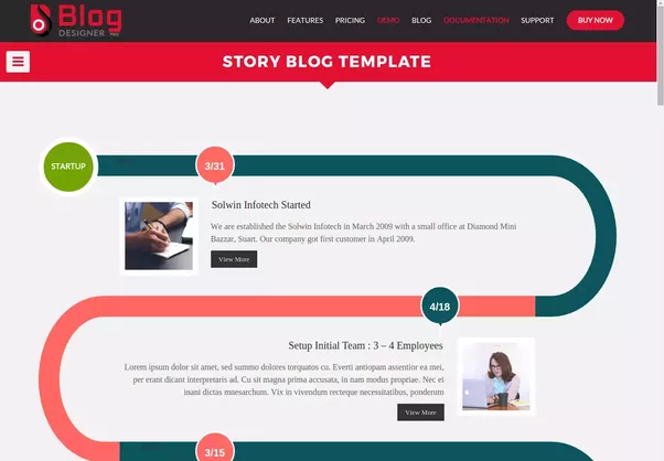 What Are Some Of The Best Informal Simple Blogger Templates Youve - Timeline blogger template