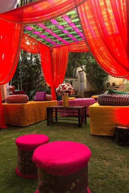 Mehndi Table Decoration : How to decorate a stage for mehndi function in india quora