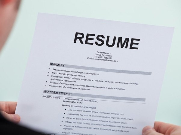 does not having a resume during an interview affect a candidate from