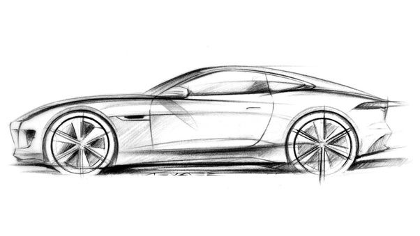 Muscle Car Sketches Side View