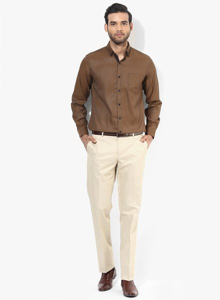 What pants go with a brown shirt quora for Mens chocolate brown shirt