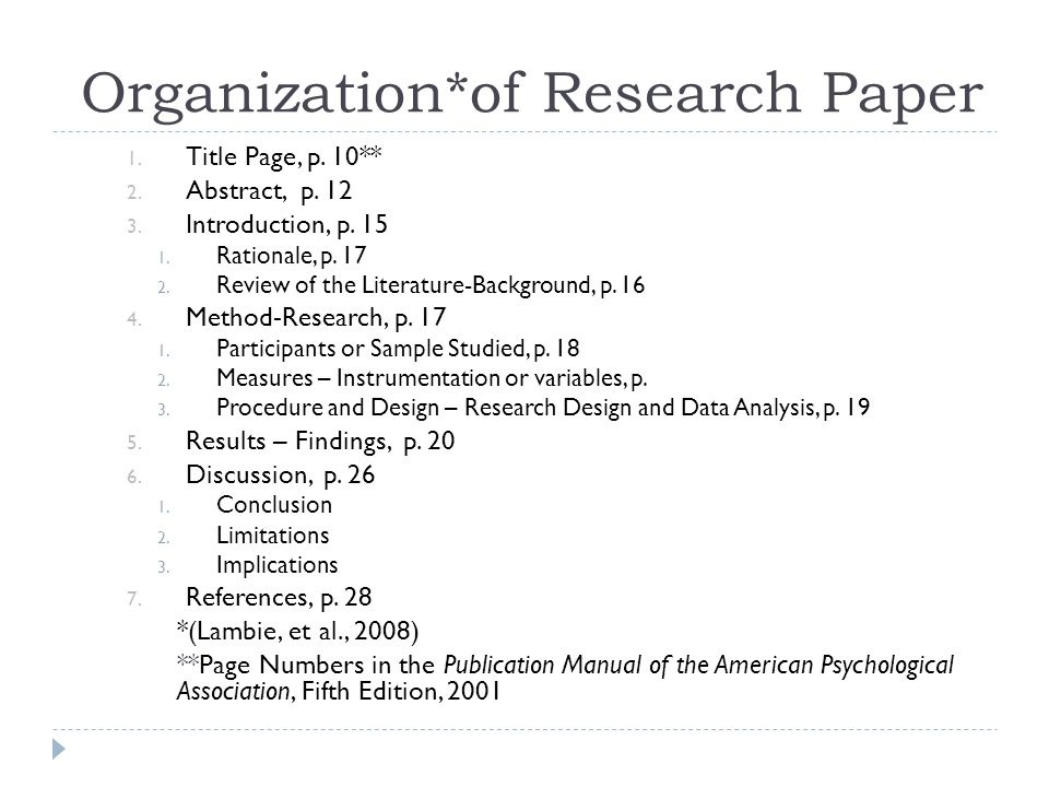 research paper purpose
