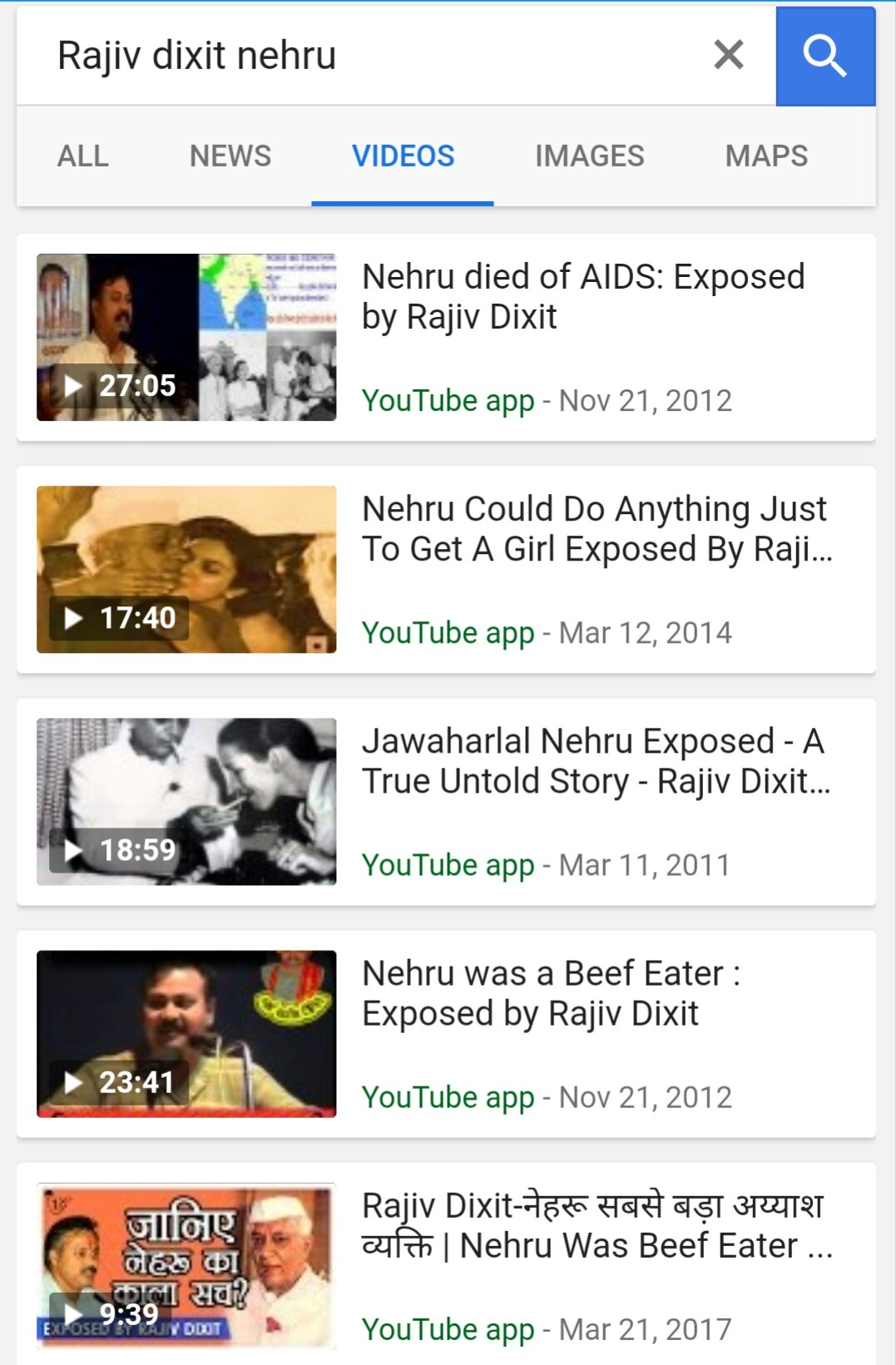 What are your opinions about the videos by Mr  Rajeev Dixit