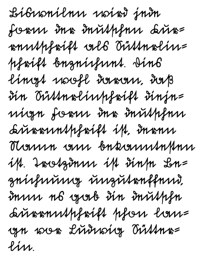 German for ex&le has Sütterlin cursive that looks like this: