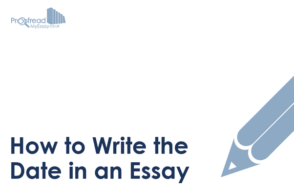 write out date in essay