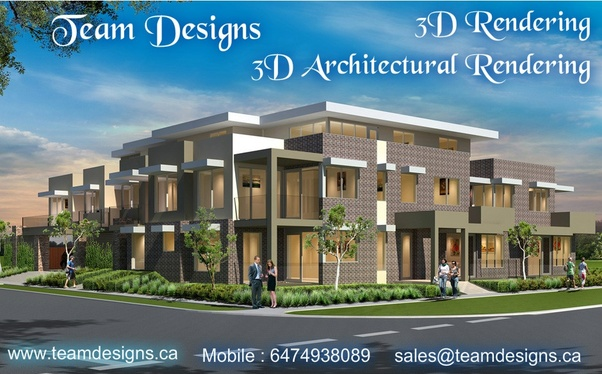 team design best service provide in canada and floor plan and 3d architectural rendering the unique design 3d rendering images provides team designs in